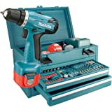 Makita 6271DWAET2 Akku-Bohrschrauber Set 55tlg., 2 Gang, 2 Akkus, 2,0Ahvon &#34;Makita&#34;