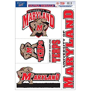 Buy Maryland Terrapins Official NCAA 11x17 Car Window Cling Decal by WinCraft