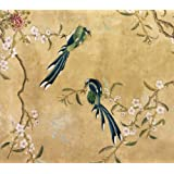 Wallpaper Depicting Two Birds (Print On Demand)