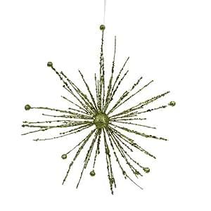 """Amazon.com: 12"""" Green Kiwi Glitter Sparkle Starburst Snowflake ..."""