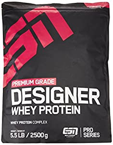 ESN Designer Whey Protein, Pro Series, Double Chocolate, 1er Pack (1 x 2500g Beutel)