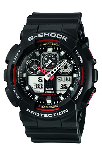 G-Shock Ana-digi World Time Black Dial Men's watch #GA100-1A4 (Gshock Lap Timer compare prices)