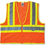 Ergodyne Glowear 8230Z Class 2 Two-Tone Vest, Orange, 2XL/3XL