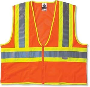 Ergodyne Glowear 8230Z Class 2 Two-Tone Vest, Orange, S/M
