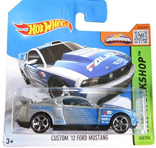 Hot Wheels HW Workshop 240/250 Blue and Grey Custom '12 Ford Mustang on Short Card by Hot Wheels