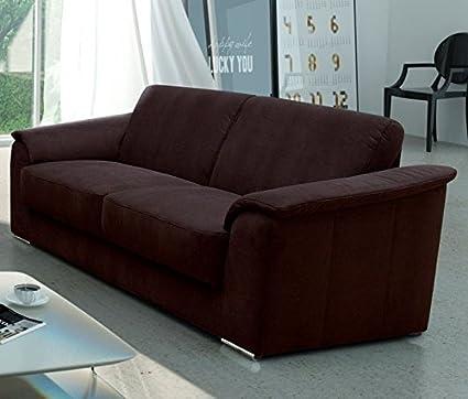 LIVORNO Sofa Couch 3er 3-Sitzer Braun