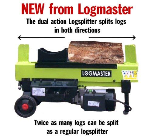 New Logmaster 6 Tonne Ton Dual Split Log Splitter Make Life Much Easier Splits Green and Hard Wood Logs In Seconds RRP £599