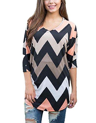 dreagal-womens-wave-striped-zig-zag-v-neck-chevron-print-tunic-shirt-x-large
