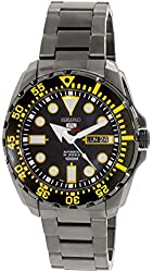 Seiko Men's 5 Automatic SRP607K Black Stainless-Steel Automatic Watch