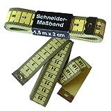 1 Schneider - Maßband / Bandmaß, 150 cm gelb, Schneidermaßband, 0037