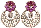 Violet & Purple Gold Plated Dangle & Drop Earrings For Women (1000030418)