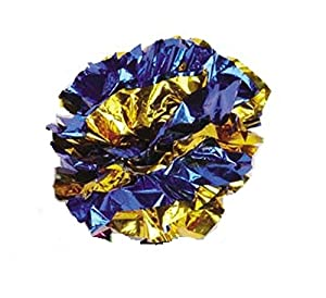 MYLAR Crinkle Balls Cat Toys - Interactive Lightweight Shiny Metallic Colors 4 Pack, 7 Pack, 12 Pack, 25 Pack, 36 Pack or 46 Pack