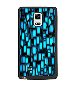 PrintDhaba Pattern D-2398 Back Case Cover for SAMSUNG GALAXY NOTE 4 (Multi-Coloured)