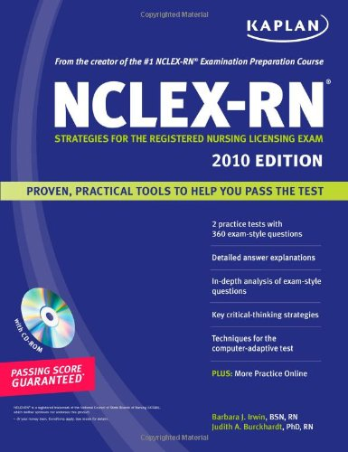 Kaplan Nclex-Rn Exam 2010 With Cd-Rom: Strategies For The Registered Nursing Licensing Exam (Kaplan Nclex-Rn (W/Cd)) front-175630