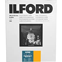"""Ilford Multigrade IV RC Deluxe Resin Coated VC Variable Contrast Black & White Enlarging Paper - 8x10"""" - 100 Sheets - Satin Surface"""