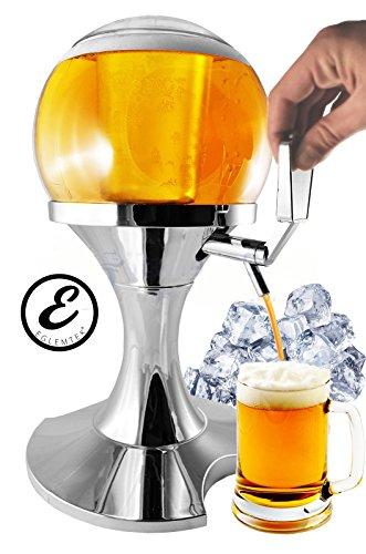 Erogatore Dispenser refrigerato per birra e bevande a forma di sfera con contenitore ghiaccio beer dispenser - 3,5 Litri