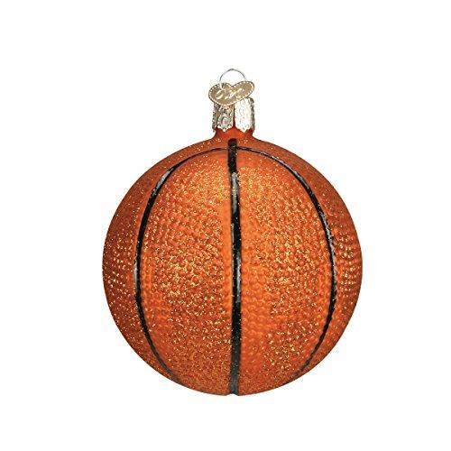 Old World Christmas Basketball Glass Blown Ornament