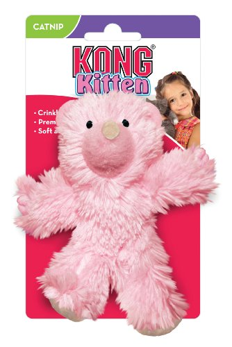 image KONG Teddy Bear Catnip Toy for Kittens, Colors Vary