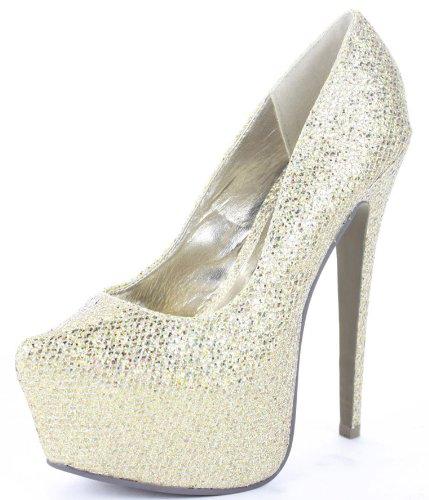 shoeFashionista - Zapatos De Mujer Tacones Aguja Altos Plataforma Peep toes Tamaño 36 - 41