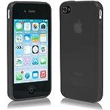 Cubierta SecondSkin para Apple iPhone 4 4s Funda Cover ultra-fino y transluciente de MACOON, color:negro