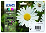 Epson 18 Series Original Multipack Ink Cartridges (Daisy) for Epson Expression Home Printers XP102, XP202, XP205, XP30, XP302, XP305, XP402, XP405. T1806