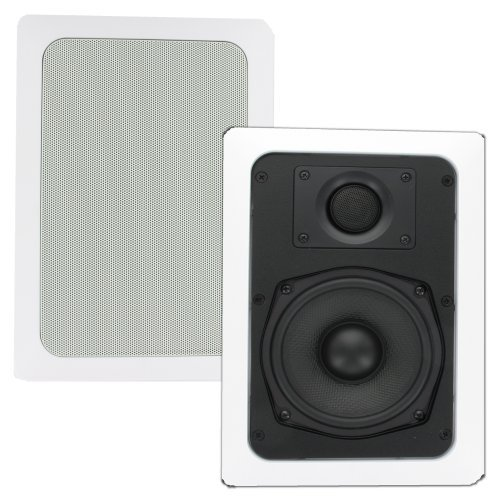Theater Solutions Ts50W 5.25-Inch Kevlar In Wall Speakers (White)