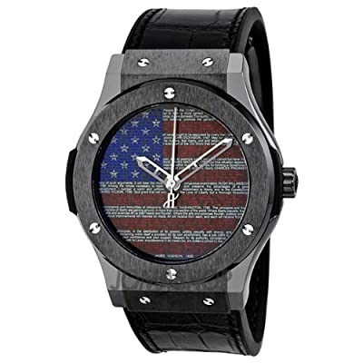 Hublot USA Constitution Black Rubber Gummy Alligator 511.CM.1190.GR.US.A11