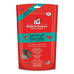 Stella & Chewy\'s Freeze-Dried Raw Surf & Turf (Beef & Salmon) Dinner Patties for Dogs, 15 oz.