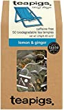 Teapigs Lemon and Ginger Tea 125 g (Pack of 1, Total 50 Tea Bags)