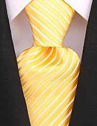 Neckties By Scott Allan - Yellow Silver Mens Tie