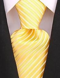 Neckties By Scott Allan - Yellow Silver Mens Tie