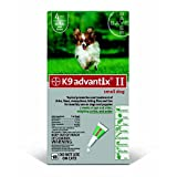 K9 Advantix II Flea Treatment for Dogs 11-20 lbs, 4 treatments
