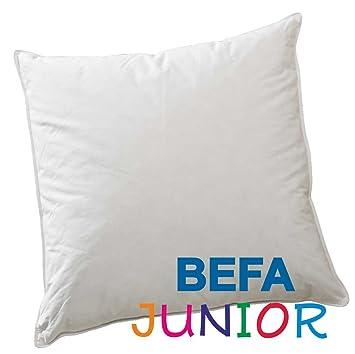 befa junior feder daunenkissen kinderwagendecke 80x80 cm 30 daunen weiss dc407. Black Bedroom Furniture Sets. Home Design Ideas
