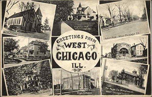 West Chicago Vintage Postcard