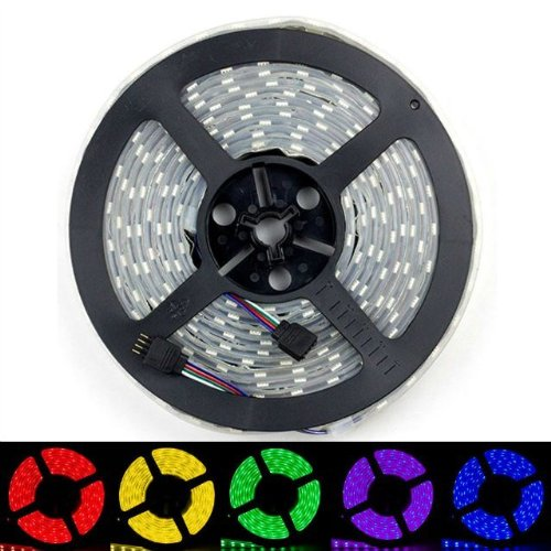 Sinollc 5M 16.4Ft 5050 Smd Multi Color Changing Rbg Double Row 120Leds/M Silicone Tube Waterproof 600 Led Flexible Strip Light New