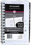 AT-A-GLANCE Executive Weekly and Monthly Appointment Book Refill 2015, For 70-N345, 70-NL45 and 70-345, 4.88 x 8 Inch Page Size (70-910-10)