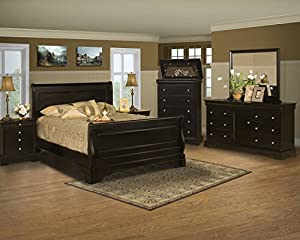 New Classic Home Furnishings Belle Rose Master Bedroom 4 Pc Set Includes Queen Bed