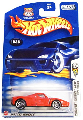 Hot Wheels 2003-036 First Editions Red Enzo Ferrari Highway 35 1:64 Scale - 1