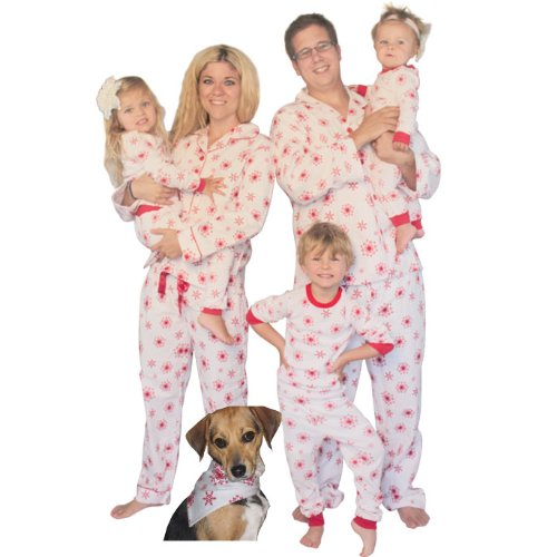 Snowflakes Family Matching Flannel Pajamas By Sleepytimepjs (6-12M) front-1015269