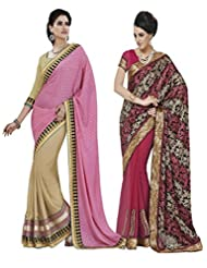 Indian Women Tureky Jacquard,Brasso,Georgette Jacquard Saree(Cmb041_Multi-Coloured)