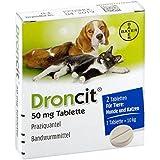 DRONCIT Tabletten für Hunde/Katzen 2 St Tabletten
