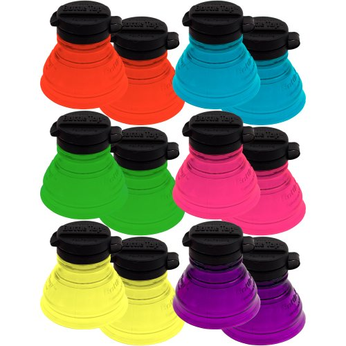 Bottle Top Cold Beverage Koozie, Set of 12 (Can Convert compare prices)