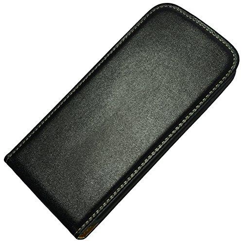 Für Sony Xperia Flip Slim Tasche Case Flip Cover Handy Hülle Etui Klapptasche Xperia J St26i Schwarz