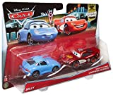 Disney/Pixar Cars, Radiator Springs Die-Cast Vehicles, Sally and Radiator Springs Lightning McQueen #8/19 and 9/19, 1:55 Scale, 2-Pack