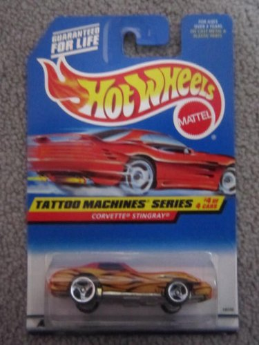 1997 Hotwheels #4of 4 Tattoo Machines Series Corvette Stingray - 1
