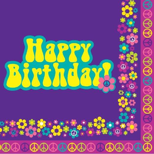 Creative Converting Groovy Girl Happy Birthday Luncheon Napkins, 16 Count