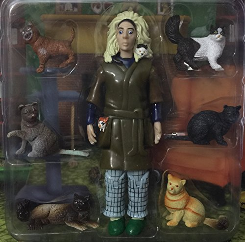 Accoutrements Crazy Cat Lady Action Figure-How Many Cats Do you Have?