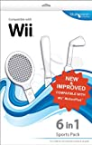 Cheapest Blue Ocean Accessories 6in1 Sports Pack (White) (Wii) on Nintendo Wii