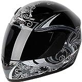 187774 - Nitro Dynamo Motorcycle Helmet M Black/Gun (10)