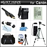 Must Have Accessory Kit For Canon VIXIA HF R52, HF R50, HF R500, HF R32, HF R30, HF R300, HF R42, HF R40, HF R400 Digital Camcorder Includes Extended Replacement (2000Mah) BP-718 Battery + Ac/Dc Charger + Deluxe Case + 50 Tripod + Mini HDMI Cable + More